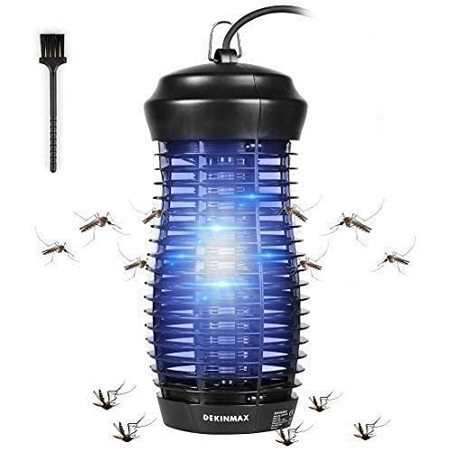 DEKINMAX Lampada Antizanzare Elettrica Zanzariera Lampada Anti Zanzare per Camera da Letto, Soggiorno, Cucina, Ufficio