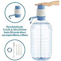 MovilCom® - Dispensador Agua para garrafas | Dosificador Agua garrafas Compatible con Botellas (Pet) de 2,5, 3, 5, 6, 8, 10 y 12 litros | para Botellas con el tapón diámetro 38mm y 48mm