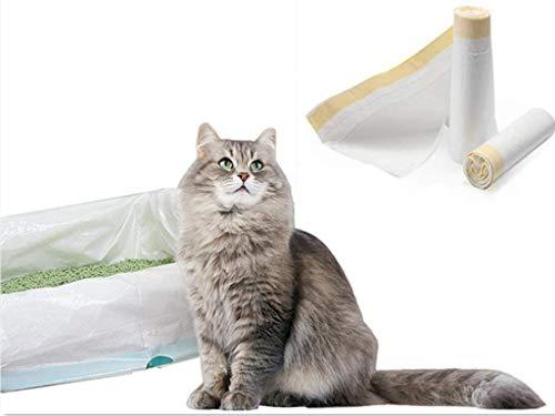 Manfa Automatisch den Mund halten Katzentoilette Katzentoilettenbeutel Katzenklo-Beutel Beutel Tüten Einlagen 2 Packungen (14 Taschen) 940*457mm