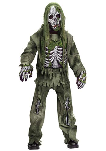 Kids Skeleton Zombie Costume Medium (8-10)