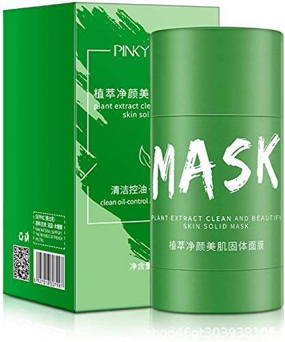 Green Tea Purifying Clay Stick Mask, Oil Control Anti-acne Eggplant Solid Fine, Moisturizing and Hydrating, Enhances skin moisture and elastic, Cleans and moisturizes at the same time.