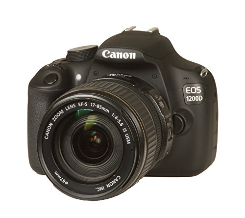 Canon EOS 1200D SLR-Digitalkamera (18 Megapixel APS-C CMOS Sensor, Full HD, 7,6 cm (3 Zoll) Display) Kit inkl. 17-85 mm EF-S Objektiv, schwarz