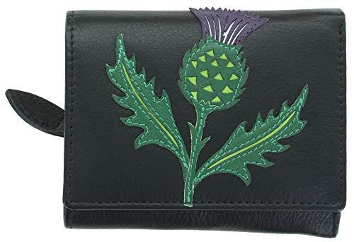 Mala Leather Hamilton Collection Small Leather Purse RFID Blocking 352044 Black