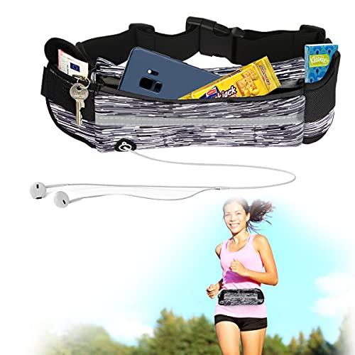 Sporgo Riñonera para teléfono móvil, impermeable, para deporte, para correr, ultraligera, con cremallera, para correr, ciclismo, viajes y fitness.