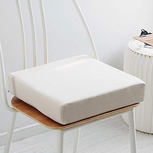 JKCTOPHOME Cojín de Asiento Redondo Acolchado,Cojín Grueso de Oficina de cojín de jardín de Color sólido Simple para el hogar-G_45 * 45 * 5cm,Cojines para Silla