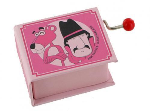 Boîte à musique à manivelle en forme de livre - La panthère rose (Henri Mancini)