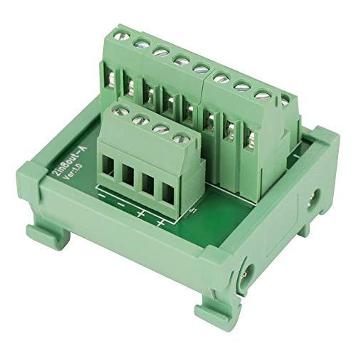 Modulplatine 2-in-8-polige Modul-Breakout-Platine DIN-Schienen- und Schalttafelmontage Power Distribution