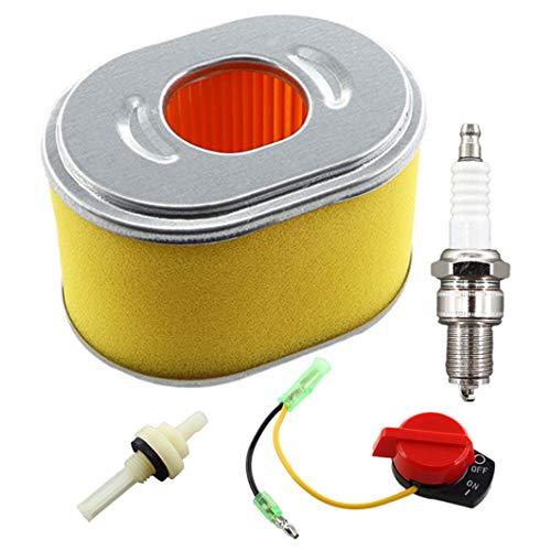 REEMO Filtro de aire con bujía, filtro de gasolina, interruptor de parada para placa vibratoria Lumag RP-1100 PRO RP1100 con motor Loncin sustituye a 17210-ZH8-820