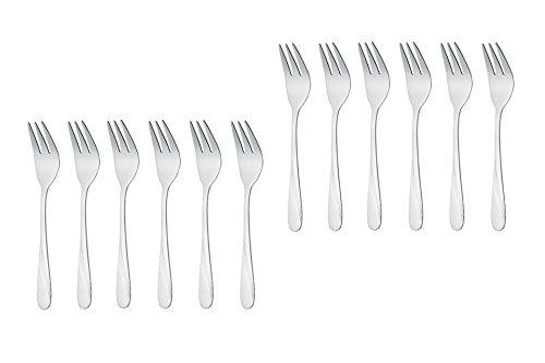 GRÄWE - Stralsund - Set di 12 forchette da dessert in acciaio inox