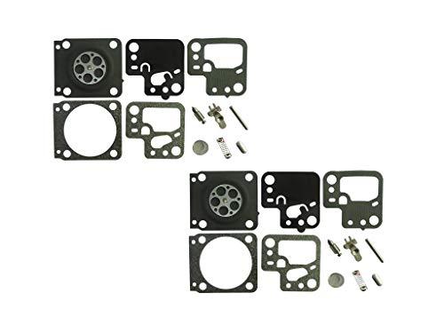 Carburetor Reparatie/Rebuild Kit Vervangt ZAMA RB-243 Voor Stihl HS46 HS56 heggenschaar ZAMA C1T-S195E-J (Pack van 2)