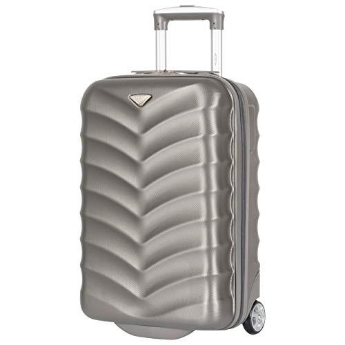 Flight Knight 21,5-inch 2-wiel ABS harde koffer met koffer voor handbagage Reisbagage easyJet BA Virgin Flybe Ryanair Goedgekeurd 55 x 35 x 20 cm