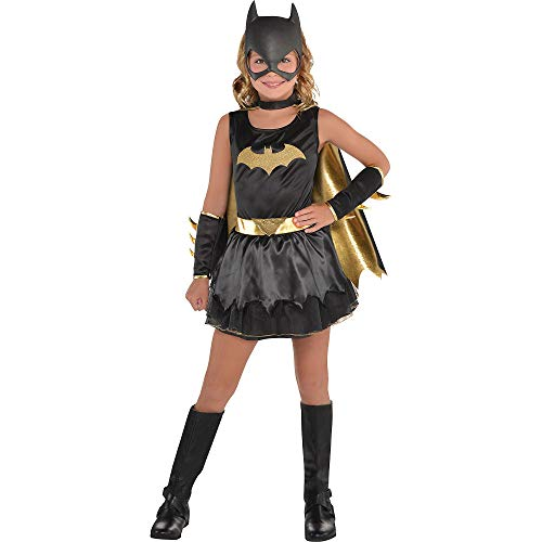 Costumes USA DC Comics: The New 52 Batgirl Costume for Girls, Size Small, Includes a Dress, Mask, Cape, and Gauntlets