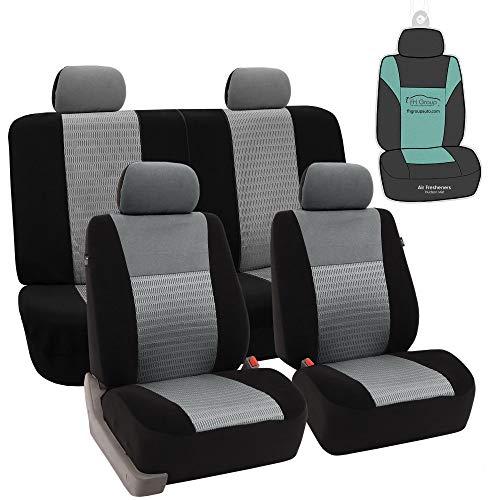 FH GROUP fh-fb060114Trendy Elegance juego de fundas de asiento para coche, compatible con airbag y banco de Split