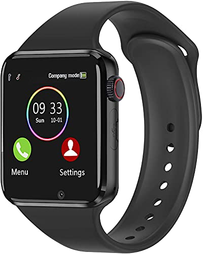 Bluetooth Smart Watch - Aeifond Touch Screen Sport Smart Wrist Watch Smartwatch Phone Fitness Tracker With Camera Pedometer SIM TF Card Slot for iPhone IOS Samsung LG Android for Men Women Kid (Black)