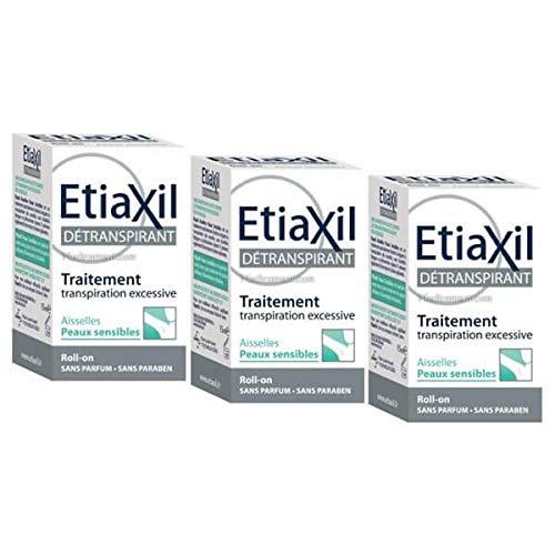 Etiaxil detranspirant sudo-régulateur aisselles pour peaux sensibles bille 3x 15ml