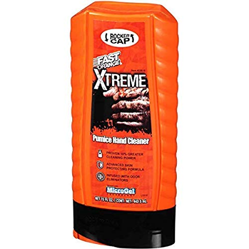 Permatex 25616 Fast Orange Xtreme Hand Cleaner with Rocker Cap, 15 oz.