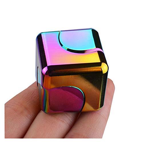 LINMAN Mano para Autismo Miedo Alivio Enfoque Color Spinning Fidget Spinner Spinner Alivio Metal descompresión Desk Regalo Regalo