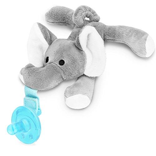 Zooawa Baby Schnuller - Silikon Schnullertier für 0 bis 18 Monate Mädchen Junge Kinder, BPA frei Zahnfreundlich Kreativ Sauger pacifier Beruhigungssauger, Elefant