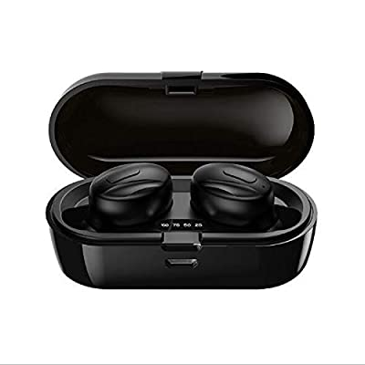 Wireless Headphones Bluetooth Earbuds IPX5 Waterproof Wireless Earphones USB-C Quick Charge for iPhone Android Phones (Black) from WINSTON-EU