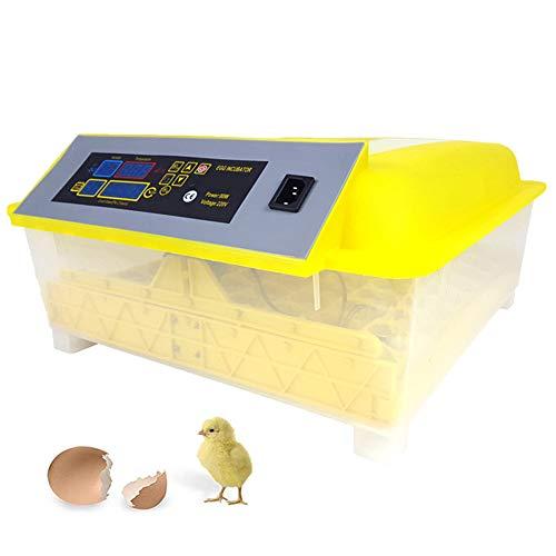 Alaof Ei-Inkubator, 56 Eggs Automatische Schraffur Hatcher Temperatur Regler Mit Led Anzeige Zum HäHnchen Gans Ente GeflüGel,Yellow,EU