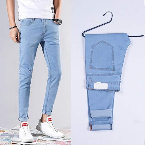 Vaqueros para Jeans Pantalones Nuevos Pantalones Vaqueros Ajustados Elásticos para Hombre, Pantalones Vaqueros Ajustados Informales A La Moda, Pantalones Azules, Negros,Blancos,