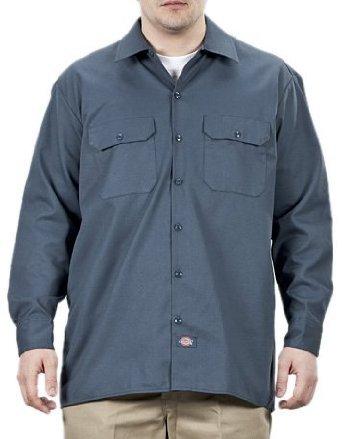 dickies - Camisa con Manga Larga para Hombre, Color Negro, Talla L