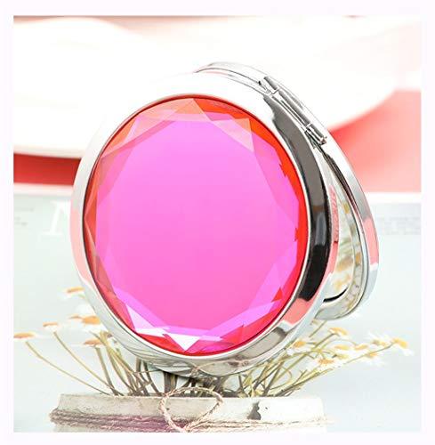 Crystal Compact Miroir De Maquillage Miroirs De Poche Miroir Double Miroir Voyage Maquillage Miroir Miroir De Poche Miroir Portable Miroir Pliant Miroir miroir de maquillage,B