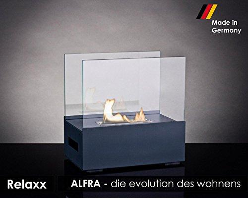 Alfra Feuer Relaxx Ethanol-Kamin, Tischkamin, Feuerstelle für Bio Ethanol für Innen und Außen