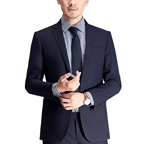 VYOOU メンズ フォーマル スーツ ジャケット 上着 スリム 2つボタン ビジネス 上質 通勤 礼服 喪服 結婚式 就活 紳士 冠婚葬祭 就職スーツ 大きいサイ