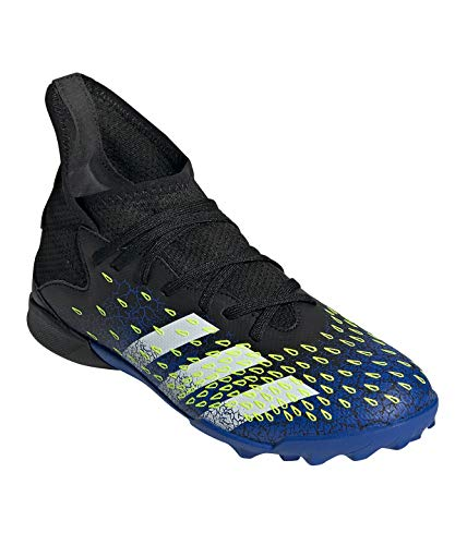adidas Predator Freak .3 TF J, Zapatillas de fútbol, NEGBÁS/FTWBLA/Amasol, 33.5 EU