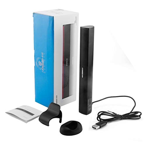 Ballylelly para Ikanoo N12 Portátil USB Portátil Altavoz estéreo portátil Audio Barra de Sonido Mini USB Altavoces portátiles para PC Ordenador portátil