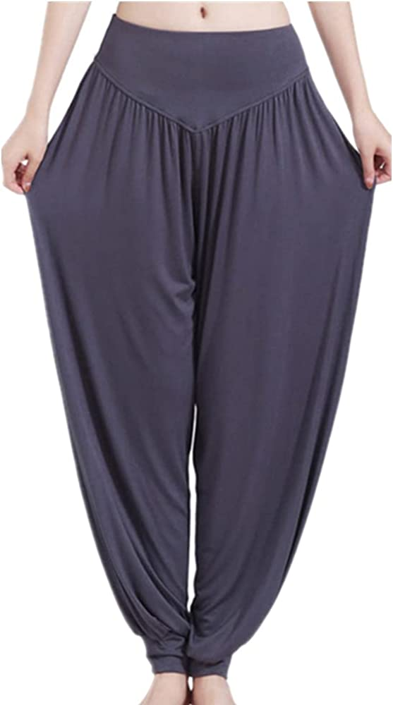 NP Women Pants Casual Loose Waist Wide Leg Pants