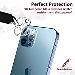 [3 Pack] EGV Camera Lens Protector Compatible with iPhone 12 Pro 6.1-inch 5G, Camera Lens Cover, Tempered Glass, [Support LIDAR Scanner] Easy Installation [Scratch-Resistant] [HD Clear]