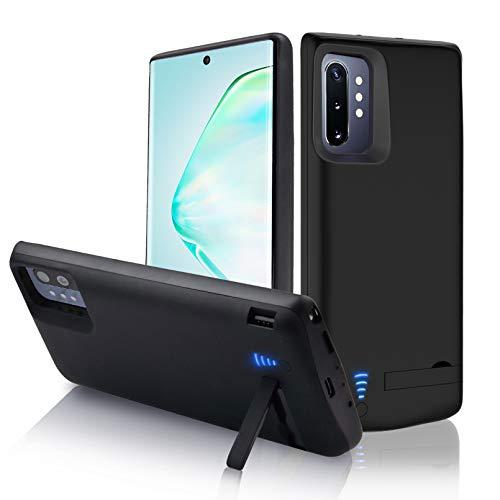 "Gladgogo Cover Batteria per Samsung Galaxy Note 10+ Plus, 6000mAh Cover Ricaricabile Custodia Batteria Cover Caricabatteria Battery Case con Cavalletto, [6,8""]Power Bank Backup Charger Case"