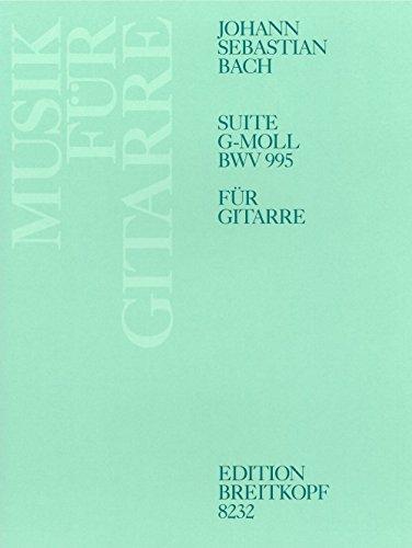Suite g-moll BWV 995 für Laute - Bearbeitung für Gitarre (EB 8232)