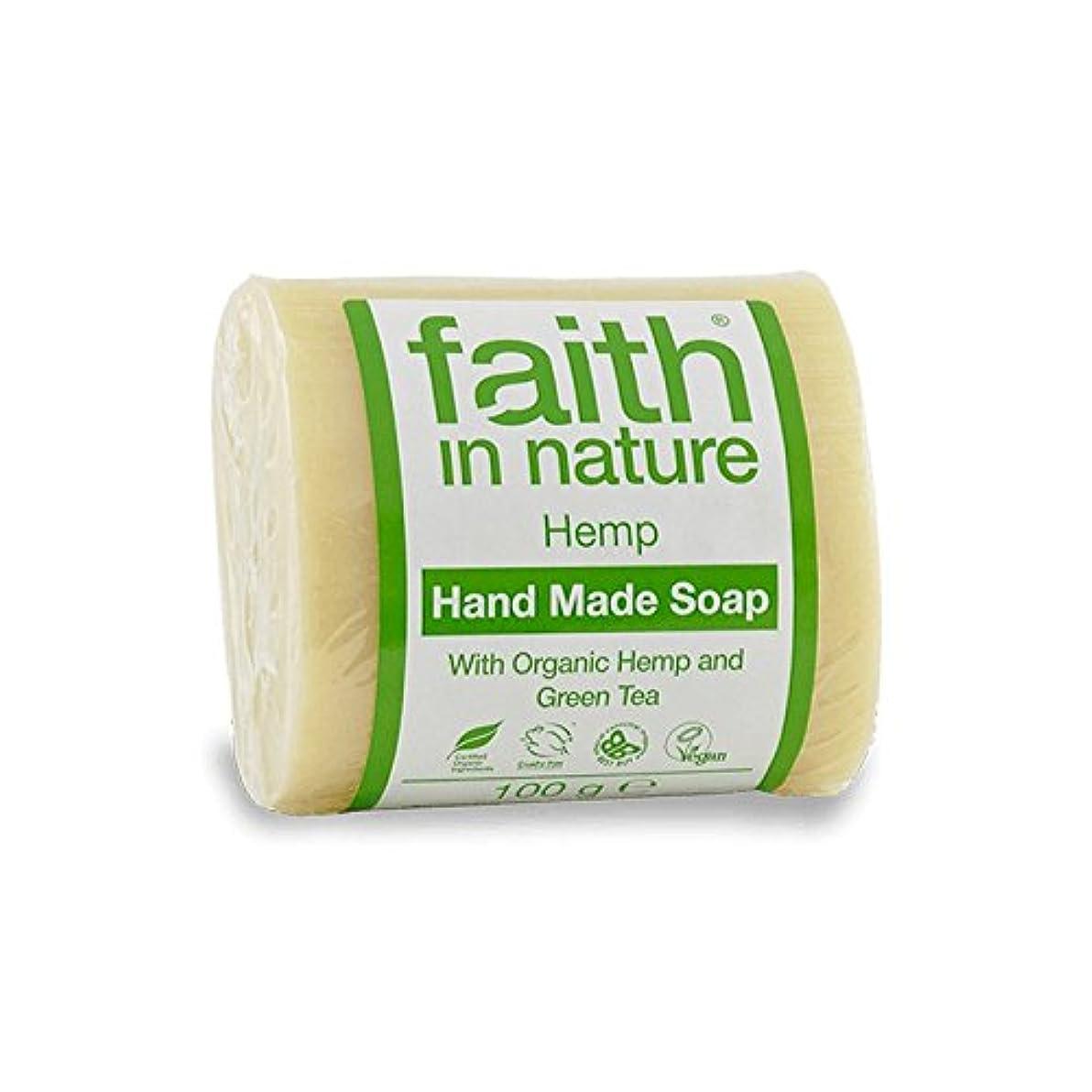 因子施し連隊Faith in Nature Hemp with Green Tea Soap 100g (Pack of 2) - 緑茶石鹸100グラムと自然の麻の信仰 (x2) [並行輸入品]