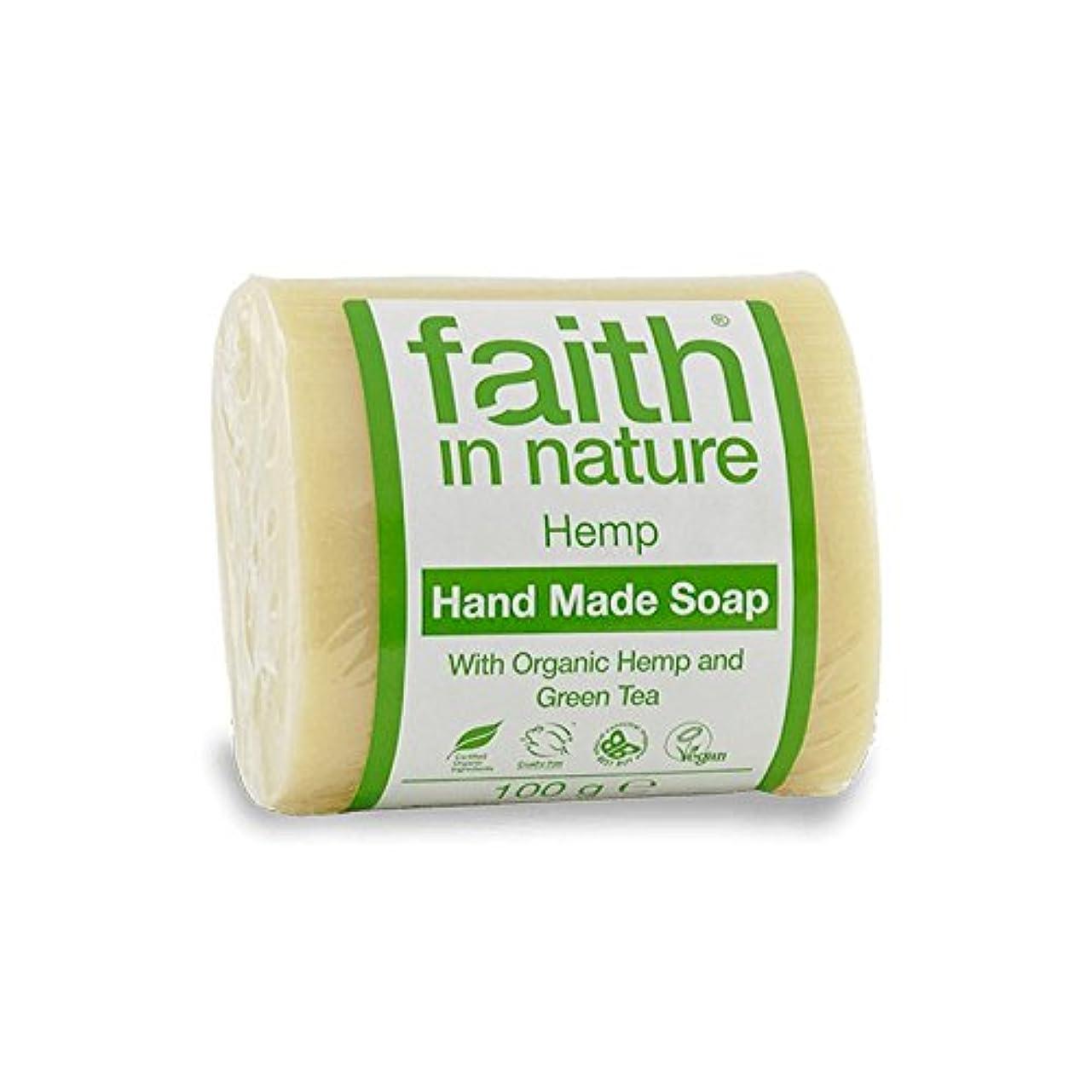 階層セッション困惑するFaith in Nature Hemp with Green Tea Soap 100g (Pack of 6) - 緑茶石鹸100グラムと自然の麻の信仰 (x6) [並行輸入品]
