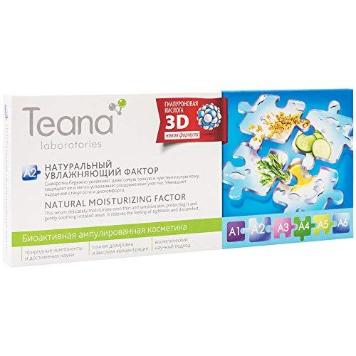 Teana Laboratories - A2. Gel Sérum Acide Hyaluronique 3D Hydratation Profonde Longue Durée Réduit La Desquamation Contour des Yeux Soin Naturel 10x2ml
