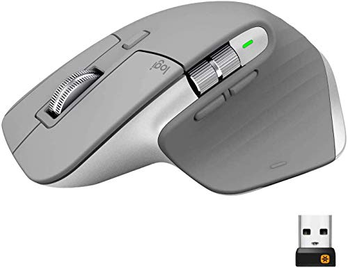 Logitech MX Master 3 Advanced Wireless Mouse - Mid Gray (Renewed)
