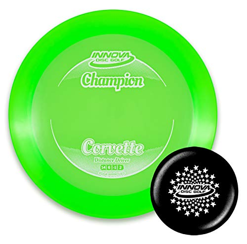 Innova Disc Golf Champion Corvette Disc Golf Driver with Limited Edition Stars Stamped Innova Mini – Colors Will Vary (165-169g)