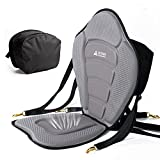Leader Accessories Gray/Black Piping Deluxe Kayak Seat Boat Seat(Gray/Black Piping)