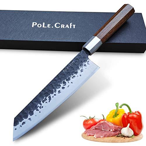 Geschmiedetes Kiritsuke Messer 9 Zoll Kochmesser - Kochmesser 8 Zoll - Santokumesser 7 Zoll - Nakirimesser 7 Zoll - Küchenmesser - Besteckmesser zum Fleischfischen - Geschmiedeter Stahl - Rohholzgriff
