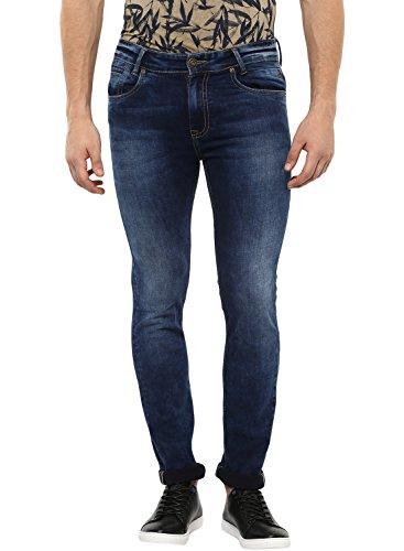 Mufti Men's Straight Fit Jeans (MFT-30411-G-61-BLUE Dark_36W x 33L)