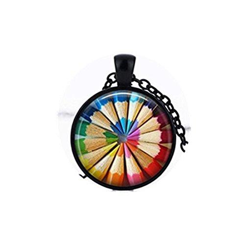 Kleurplaten Potloden ketting Regenboog Gekleurde Potloden Art Ketting Gift voor Artiest Ketting Leraar Gift
