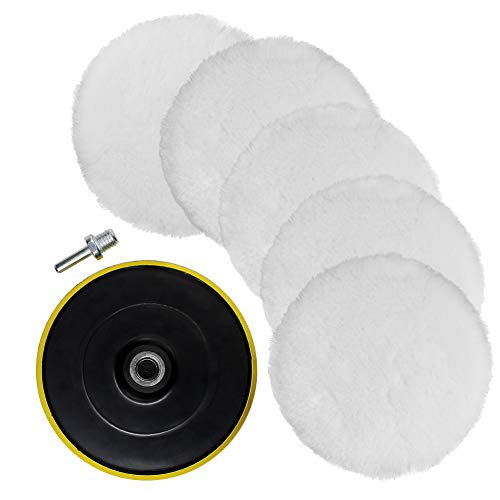 Sponge and Wool Polishing Pad Set with M14 Drill Adapter Coceca 7pcs 6 Inches Polishing Pad Kit