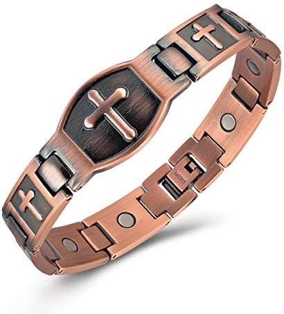 Gioieiieria Men Copper Bracelet Magnetic Therapy Bracelet for Relieve Arthritis Pain 99 9 Copper product image