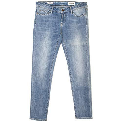Rich & Royal, Skinny, Damen Damen Jeans Hose Stretchdenim Blue Used W 31 L 32 [20947]
