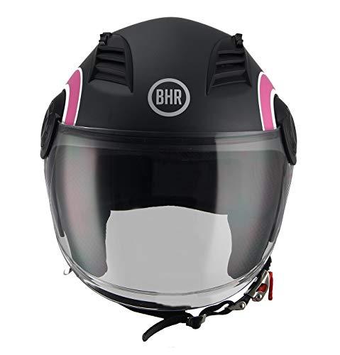 BHR Casco Moto, Rosa, M