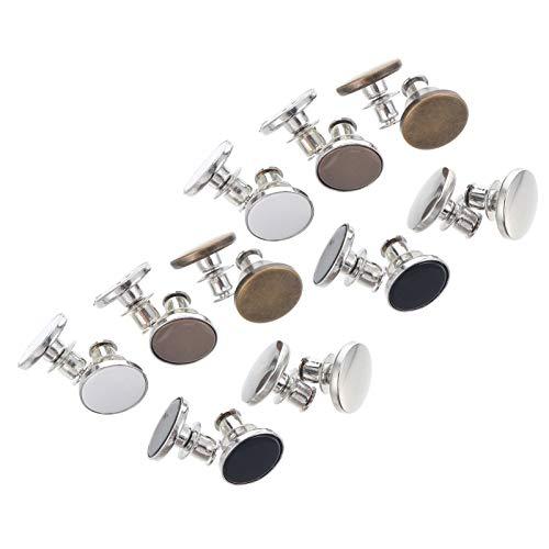 EXCEART 10 Piezas Botones Instantáneos Pantalones Vaqueros Botones de Cintura Ajustable Botones de Metal de Reemplazo Botón de Jeans Hebillas Extensibles Desmontables sin Botones de