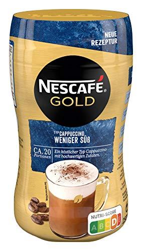 NESCAFÉ Gold Typ Cappuccino Weniger Süß, Getränkepulver aus löslichem Bohnenkaffee, koffeinhaltig, 1er Pack (1 x 250g)